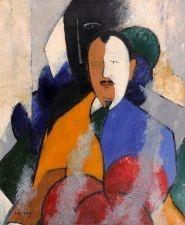 Jean Crotti - Portrait D' Etienne Bignou. Original 1944