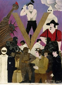 Mr. Prejudice, by Horace Pippin, 1943