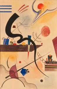 """Calm Bend"". 1924 year watercolor on paper 34.6 x 22.5 sm Minneapolis. USA. Walker Art Center From- wassilykandinsky.net"