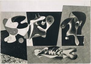 Gorky, Study for Nighttime, Enigma and Nostalgia. Study for Nighttime, Enigma and Nostalgia 1932 Ink on Paper 51.1 x 73 cm