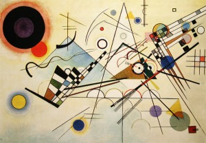 """Composition VIII"" 1923 year Oil on canvas 140х201 sm  New York, The Solomon R. Guggenheim Museum From- wassilykandinsky.net"