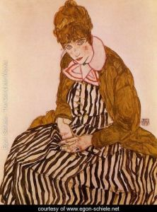 Edith-Schiele--Seated