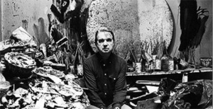 Francis Bacon in his studio…I love the insane mess.