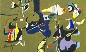 Detail from Garden in Sochi (1941) by Arshile Gorky. Photograph: ADAGP, Paris and DACS, London/Museum of Modern Art, New York/Scala, Florence