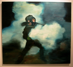 Joy Garnett Smoke (2003) oil on canvas