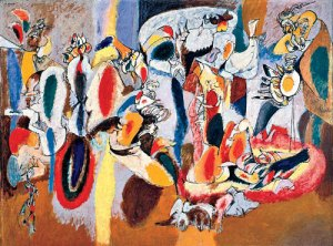 The Liver is the Cock's Comb- Arshile Gorky