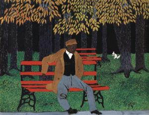Man on a Bench-Horace Pippin