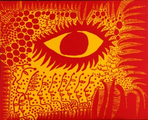 """I want to live honestly, like the eye in the picture"" Yayoi Kusama, 2009"
