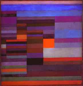 Fire in the Evening- Paul Klee