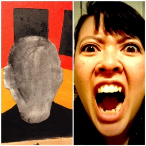 Study for a Woman Screaming- In Progress- Linda Cleary 2014