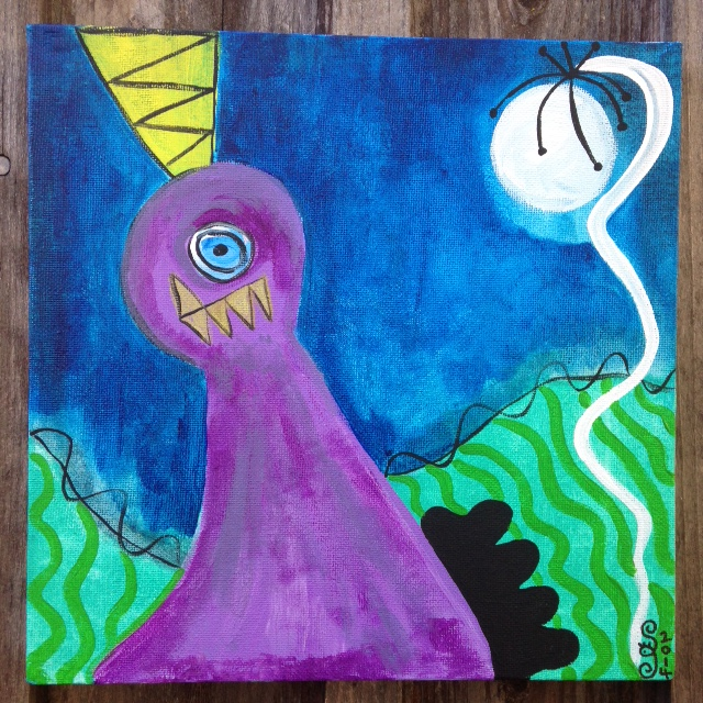 The Second Moon- Tribute to William Baziotes Linda Cleary 2014 Acrylic on canvas