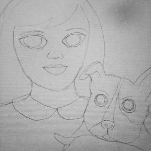 My beginning sketch!