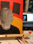 Staring at Francis Bacon's portrait as I start the details on my own.