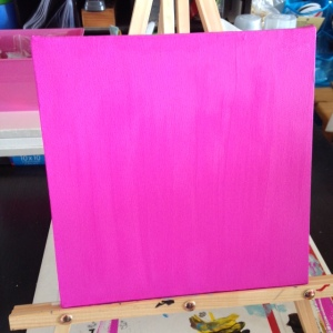 I chose hot pink…because I would never choose hot pink.