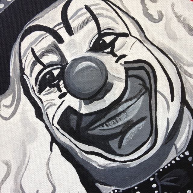 (Close-Up) Le Clown Heureux- Tribute to Camille Bombois Linda Cleary 2014 Acrylic on Canvas
