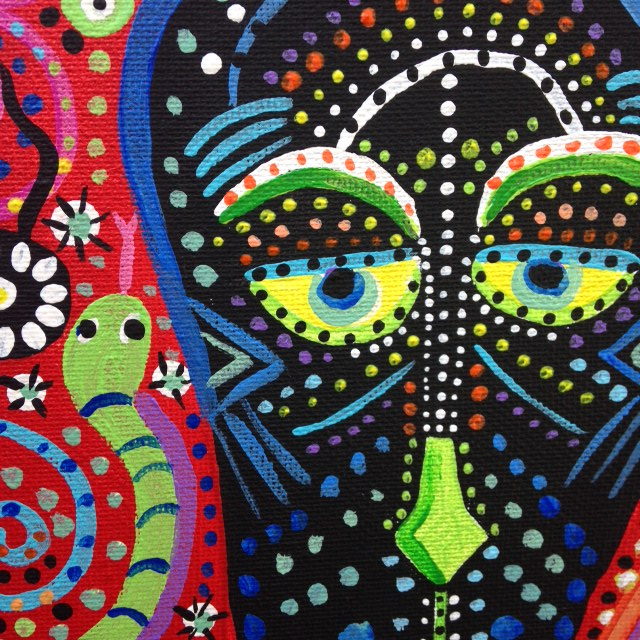 Close-Up 1 Tree Man- Tribute to Pacita Abad Linda Cleary 2014 Acrylic on Canvas