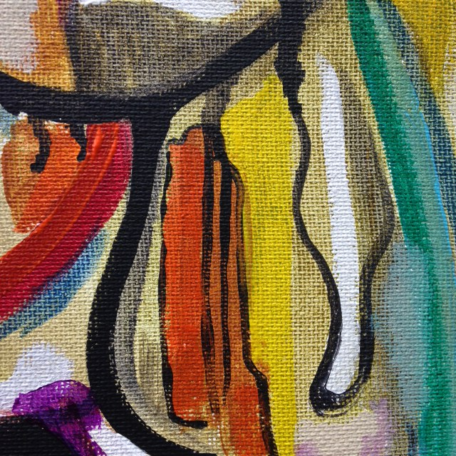 Close-Up 2 The Man You See is in your Mind- Tribute to Arshile Gorky Linda Cleary 2014 Acrylic on canvas