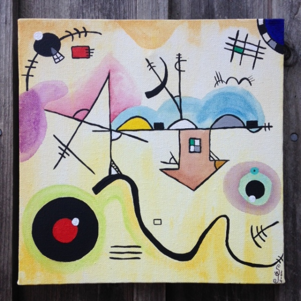 Composition I- Linda Cleary 2014 (Tribute to Wassily Kandinsky)