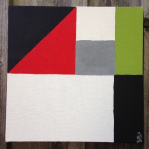 Finished piece.   Untitled 1- Linda Cleary 2014- Tribute to John McLaughlin