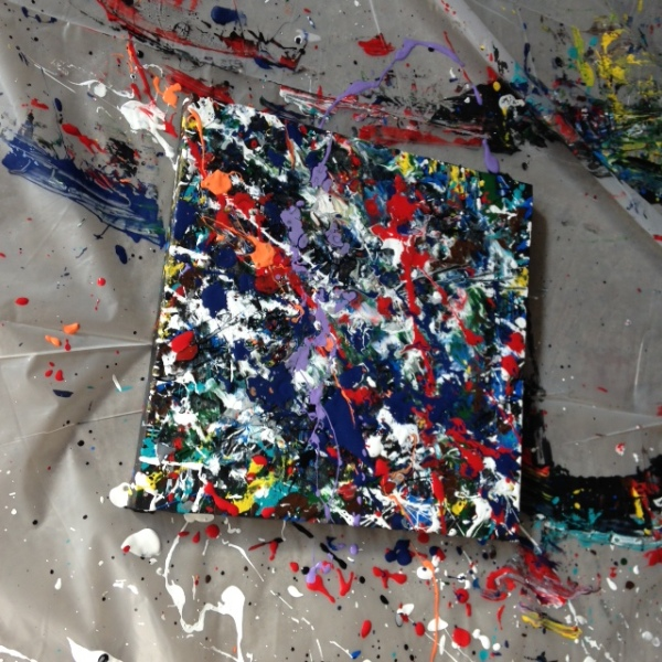 Number 16- Tribute to Jackson Pollock Linda Cleary 2014 Acrylic/Latex on canvas