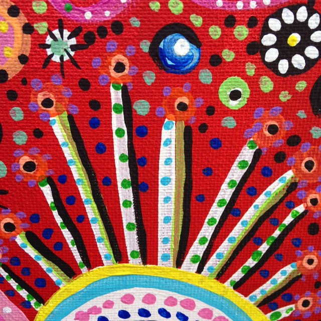 Close-Up 2 Tree Man- Tribute to Pacita Abad Linda Cleary 2014 Acrylic on Canvas
