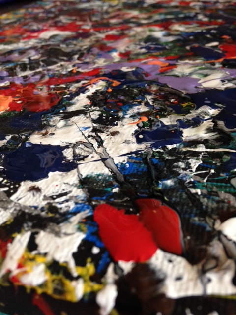 Close-up Number 16- Tribute to Jackson Pollock Linda Cleary 2014 Acrylic/Latex on canvas