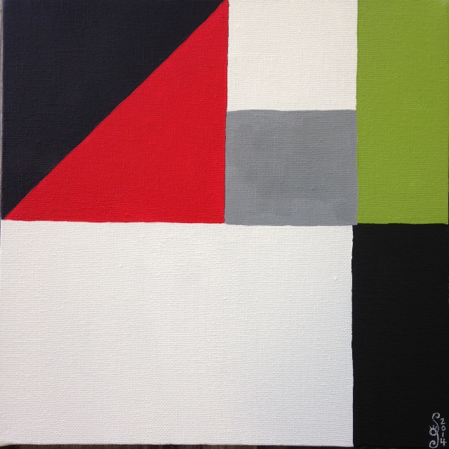 Untitled 1- Linda Cleary 2014- Tribute to John McLaughlin- Acrylic