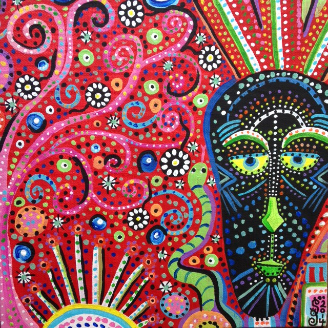 Tree Man- Tribute to Pacita Abad Linda Cleary 2014 Acrylic on Canvas