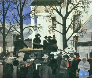 John Brown Going To His Hanging by Horace Pippin