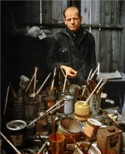 Jackson Pollock in his studio…barn?