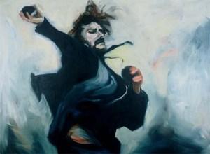 Stones (2003) 60 x 78 inches. Oil on canvas- Joy Garnett
