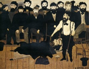 The Trial of John Brown- Horace Pippin