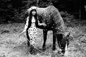 I love this photo of Yayoi Kusama