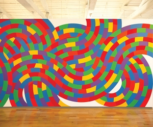 Wall Drawing 1152 Whirls and Twirls (Met) April 2005 Acrylic Paint LeWitt Collection, Chester, Connecticut