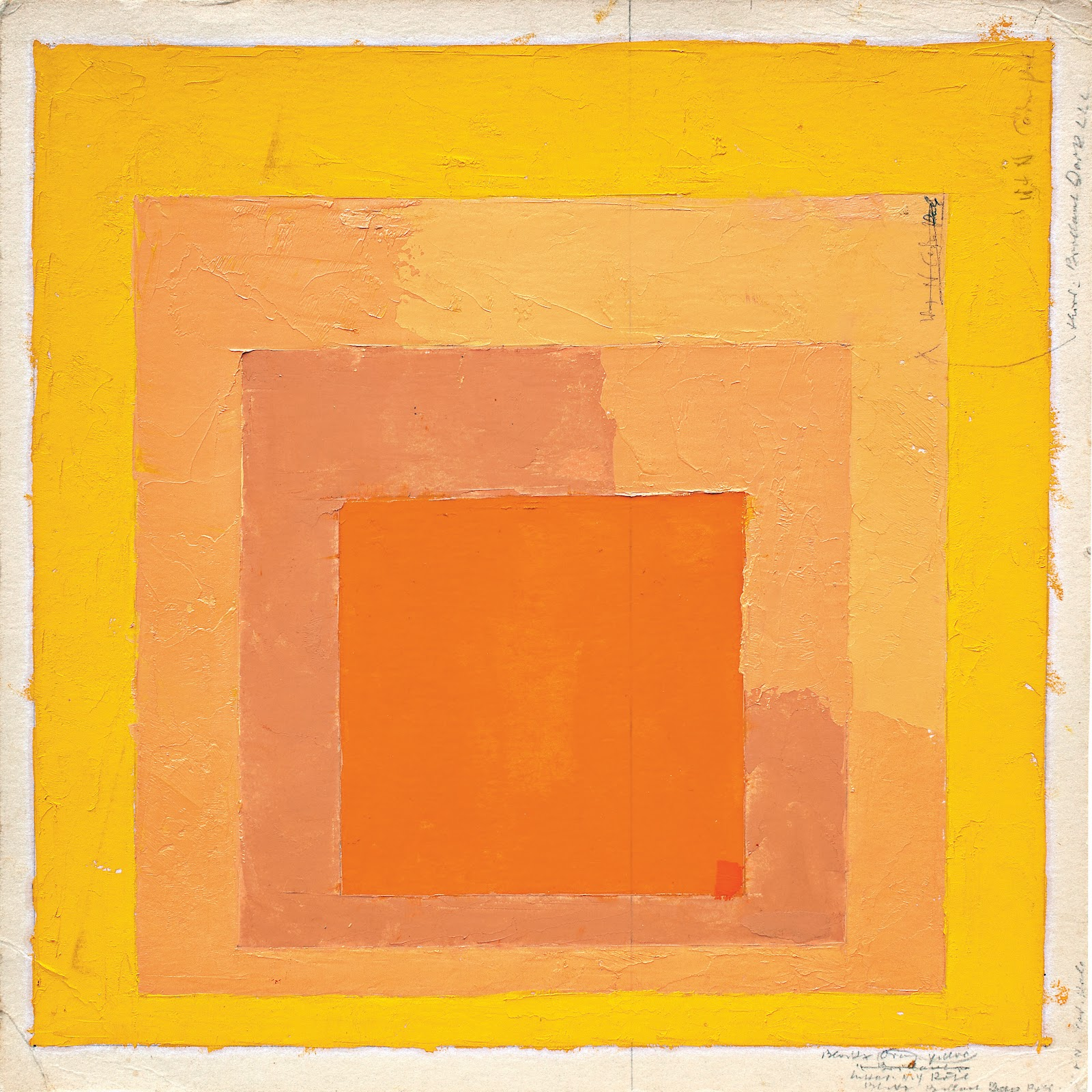 Art Painting Of A Yellow Square