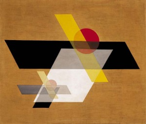 Figure 4 - Geometrical painting. Oil on canvas by Lászlo Moholy-Nagy
