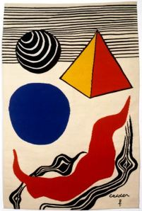 La Vague Rouge- Alexander Calder Tapestry
