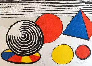 "Alexander Calder. ""From Le Memoire Elementaire (composition with Pyramid and Spheres)"""