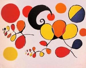 """Alexander Calder. """"Boules Et Spirales De Couleurs"""""""