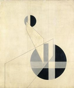 László Moholy-Nagy, Composition A.XX, 1924, oil on canvas