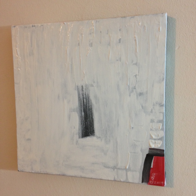 Side-View Untitled White 39- Tribute to Robert Ryman Linda Cleary 2014 Acrylic on Canvas