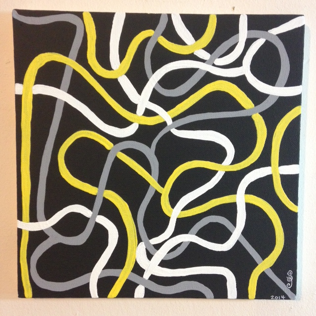 Electric- Tribute to Brice Marden Linda Cleary 2014 Acrylic on Canvas