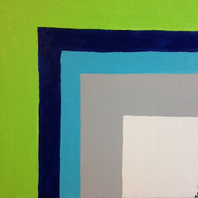 Untitled 46- Tribute to Josef Albers Linda Cleary 2014 Acrylic on Canvas