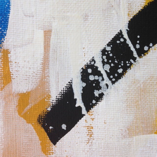 Close-Up 1 Abstract Distract- Tribute to Michael Goldberg Linda Cleary 2014 Acrylic on Canvas
