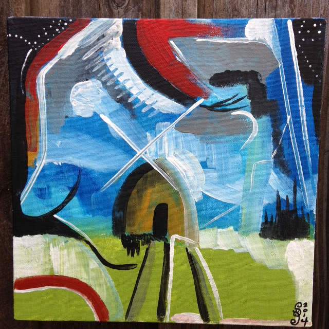 Windmill- Tribute to Peter Lanyon Linda Cleary- 2014 Acrylic on Canvas