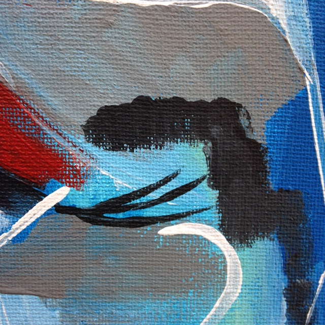 Close-Up 2 Windmill- Tribute to Peter Lanyon Linda Cleary- 2014 Acrylic on Canvas