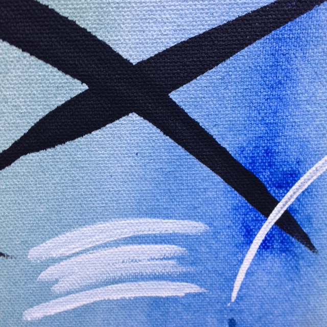 Close Up 1 Untitled 52- Tribute to Hans Hartung Linda Cleary 2014 Acrylic on Canvas