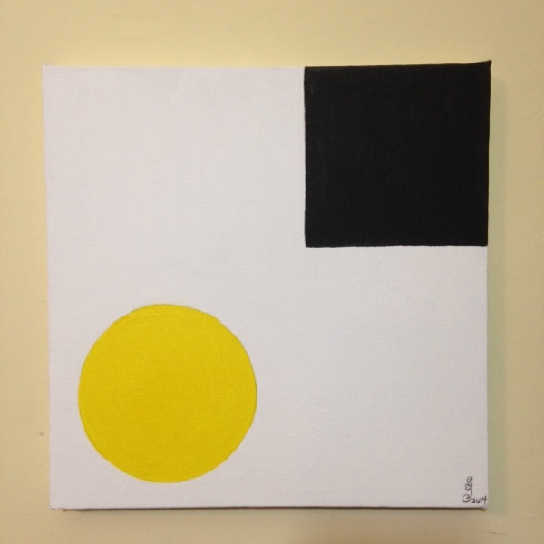 Yellow & Black- Tribute to Ellsworth Kelly Linda Cleary 2014 Acrylic on Canvas