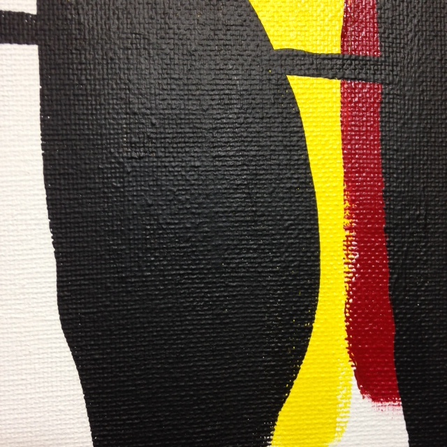 Close-Up 1 Recluse- Tribute to Robert Motherwell Linda Cleary 2014 Acrylic on Canvas