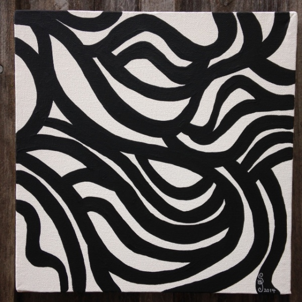 Painting 35- Tribute to Sol LeWitt Linda Cleary 2014 Acrylic on Canvas